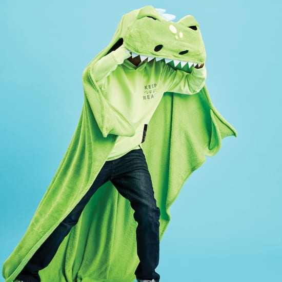 Dino Hooded Blanket