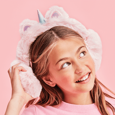 Light Pink Unicorn Ear Muffs