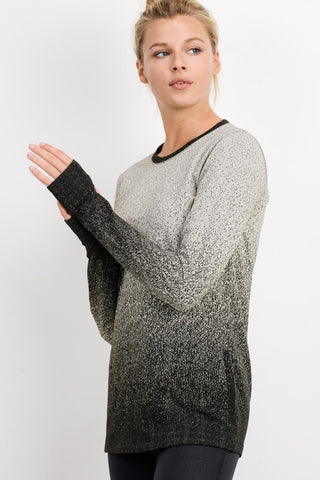 Snowfall Ombre Pullover