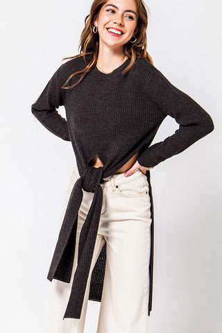 Multi Way Exaggerated Length Sweater