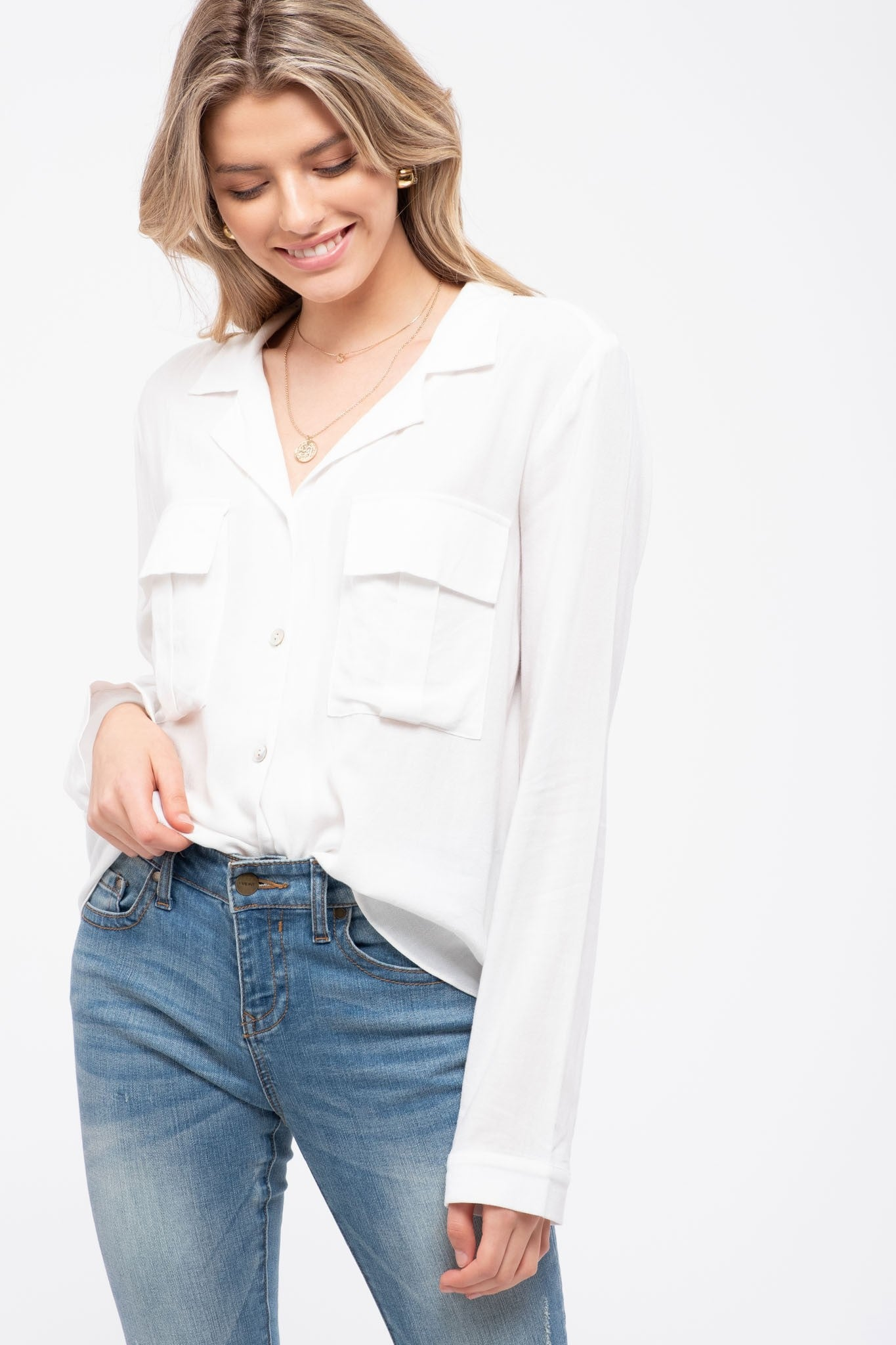 Double Pocket Button Down