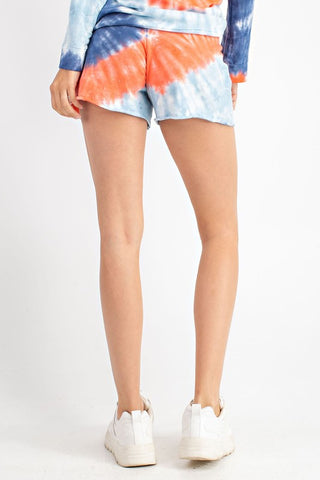 Tie Dye Cotton French Terry Shorts