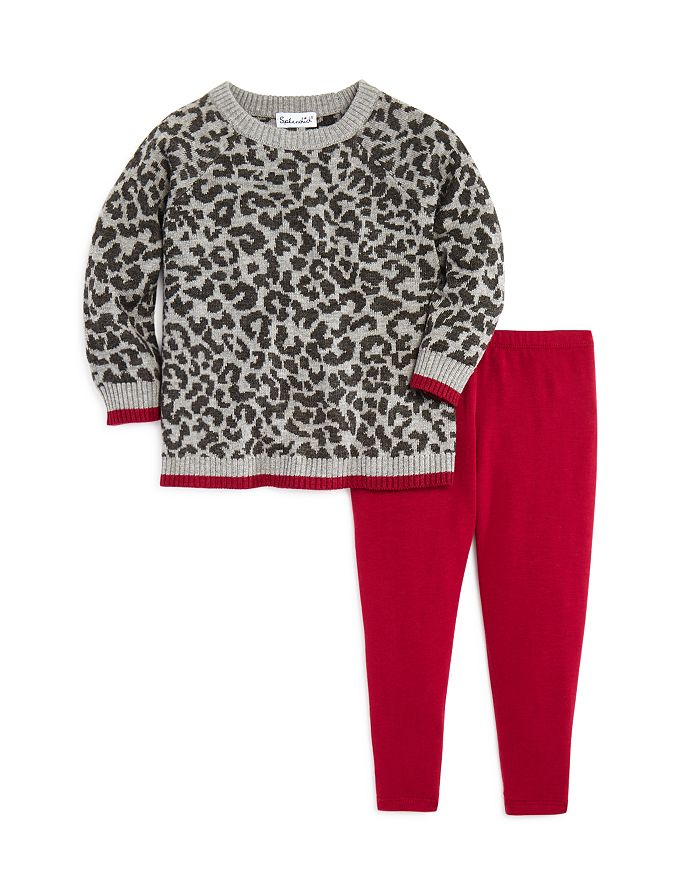 Leopard Sweater & Leggings Set