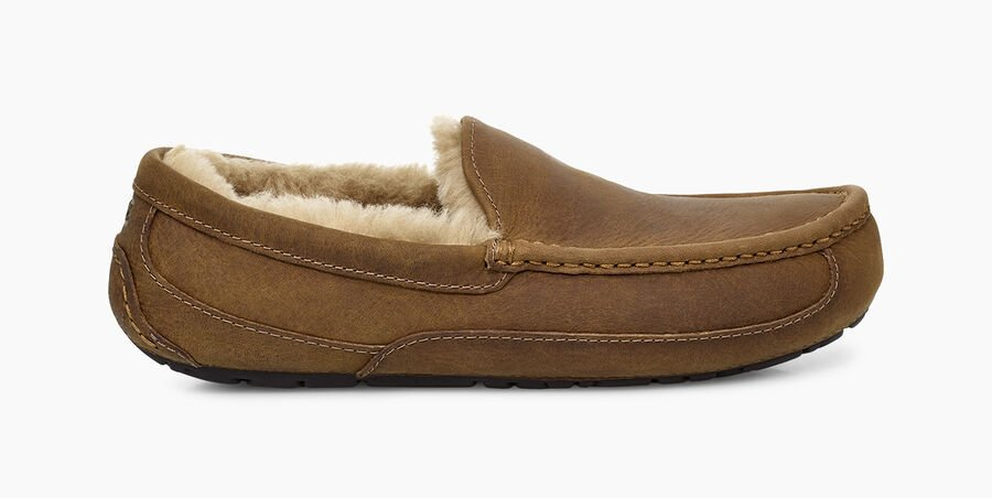 Ascot Leather Slipper - Tan