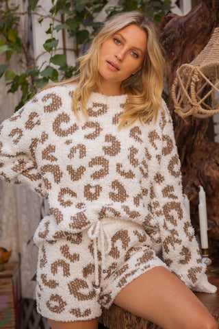 Cream Leopard Lounge Set - This Little Piggy