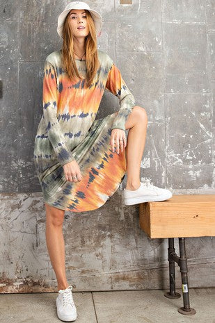 Tie Dye Printed Dress