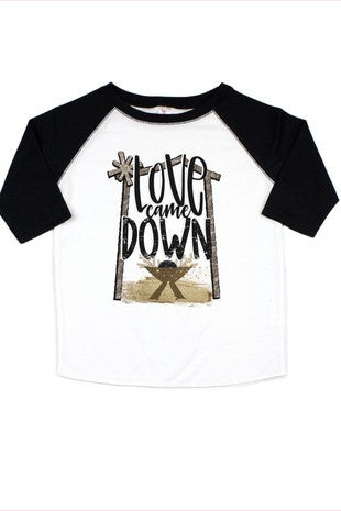 Love Came Down Kids Tee - This Little Piggy