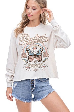 Radiate Positivity Cropped Top