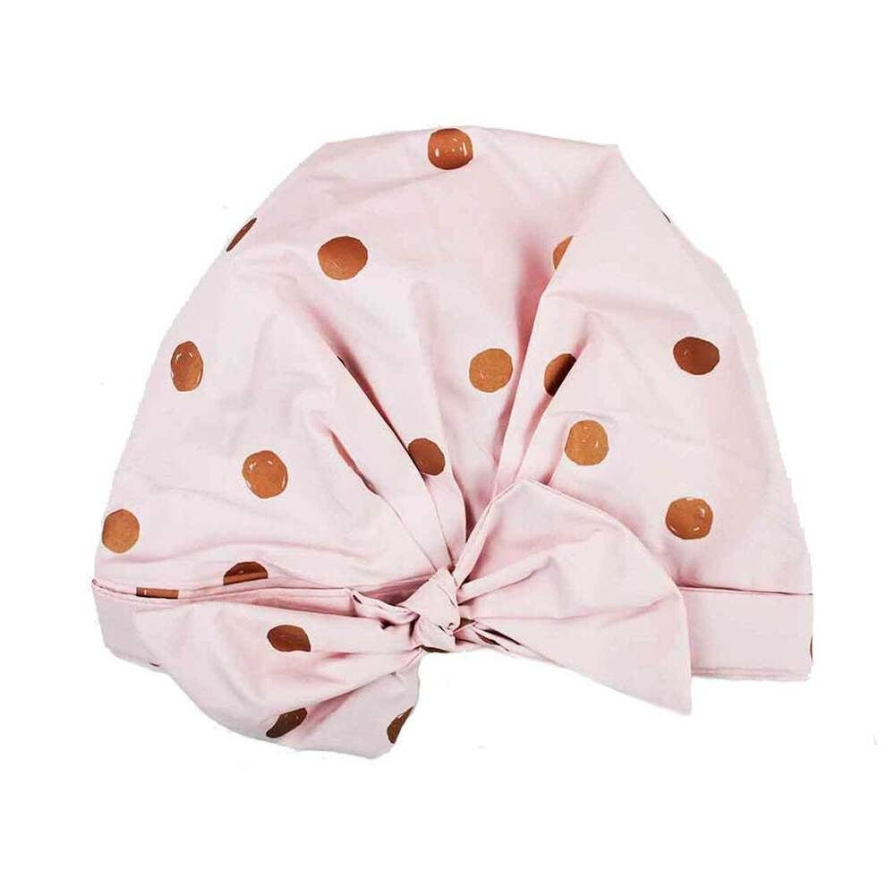 Luxe Shower Cap - Blush Dot