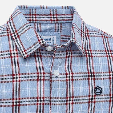 Long Sleeve Checked Shirt - Red