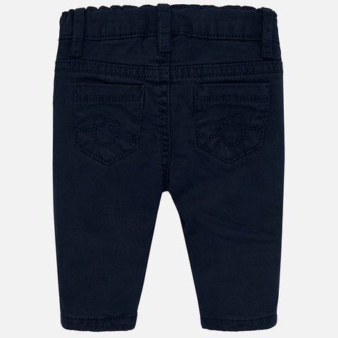 Elastic Twill Trousers - Navy