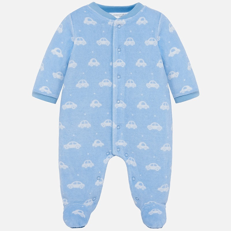 Long Sleeve Pajama Footie - Cloud