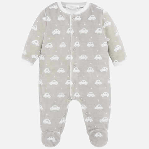 Long Sleeve Pajama Footie - Steam