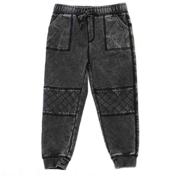 Washed Biker Jogger Pants