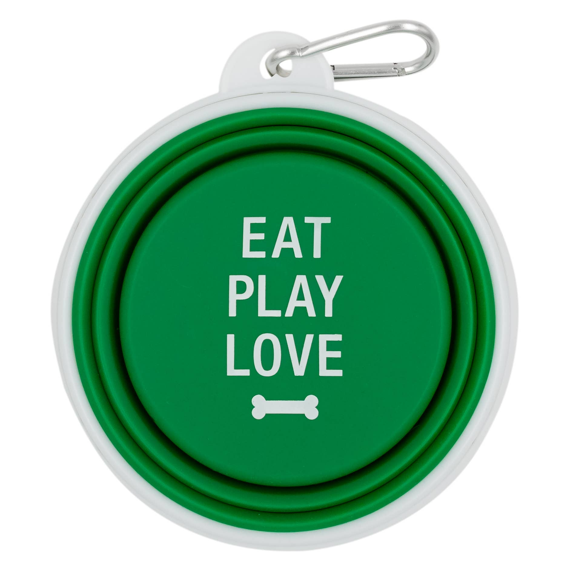Eat Play Love Silicone Dog Bowl