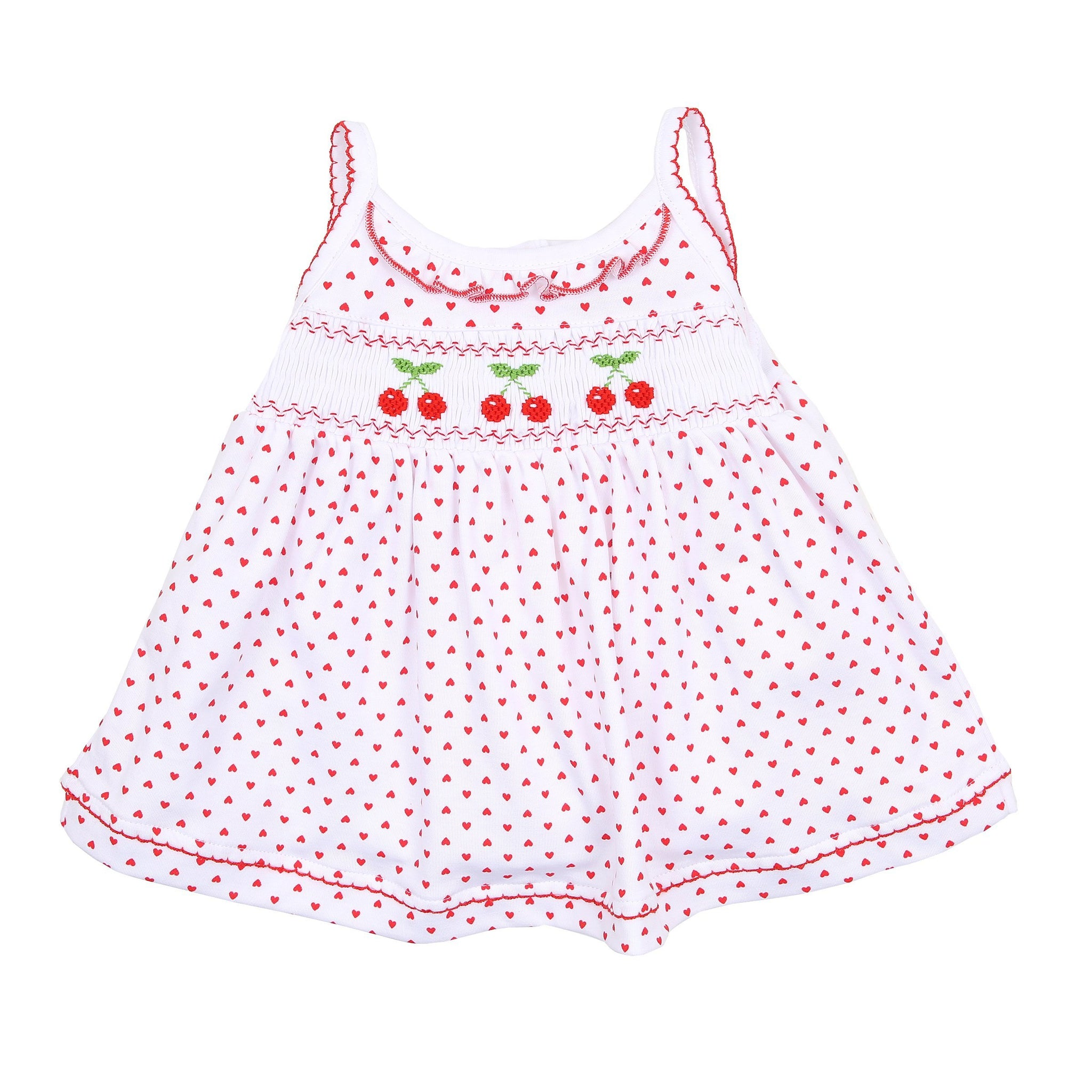 Cherry on Top Smocked Sleeveless Dress Set