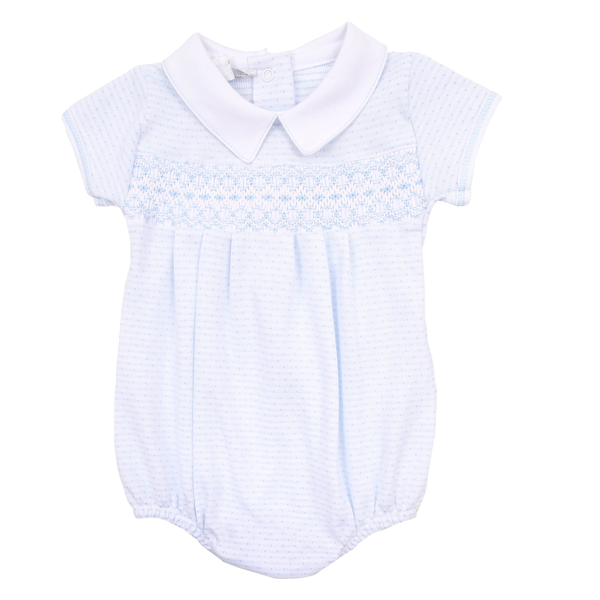 Jillian and Jacob's Classics Blue Smocked Bubble