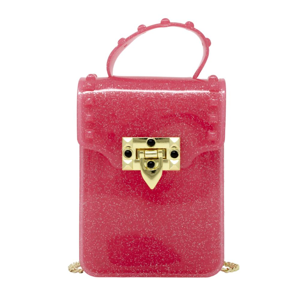 Jelly Stud Bag - Pink