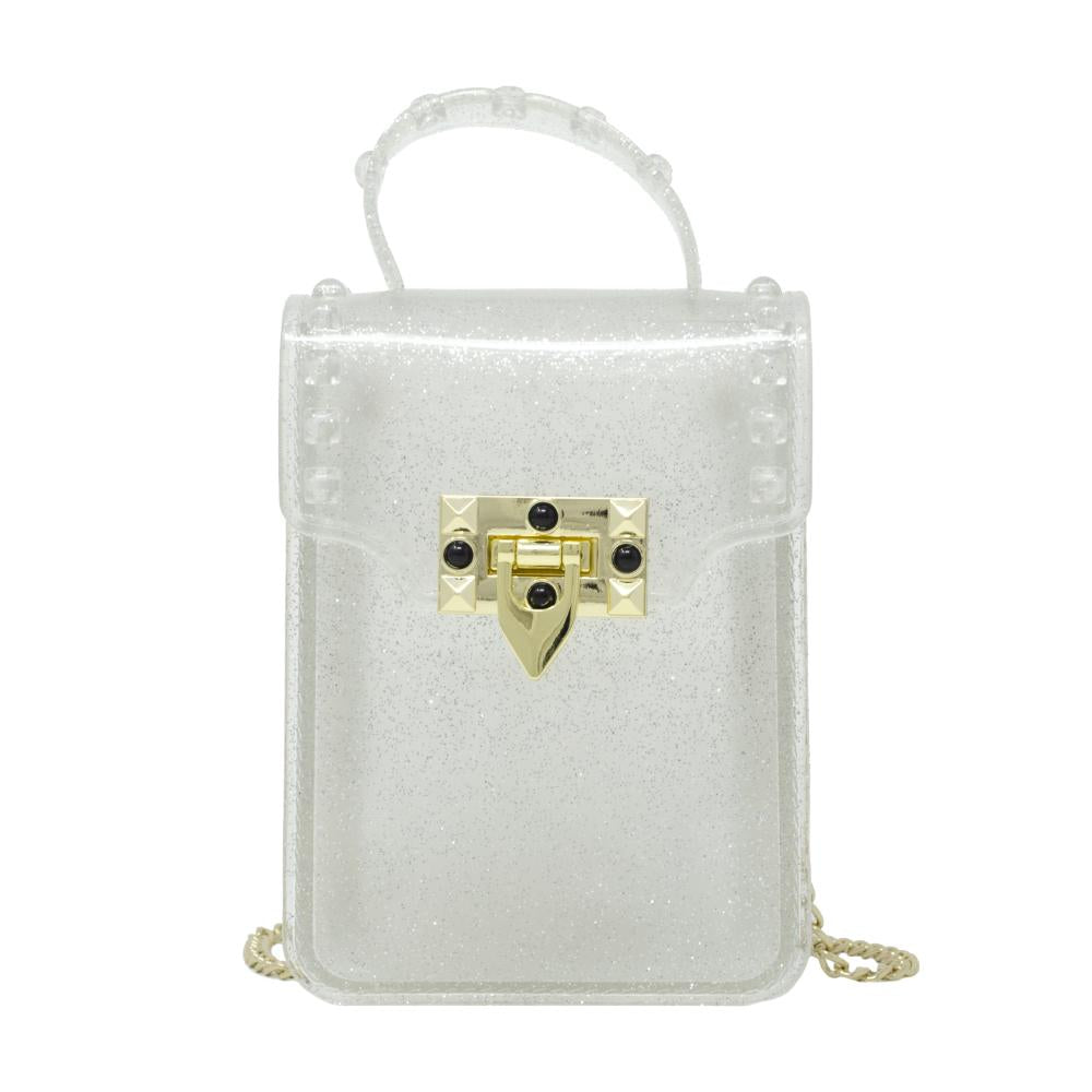 Jelly Stud Bag - Silver