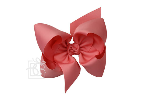 XL Solid Bow w/ Knot 'on French Clip
