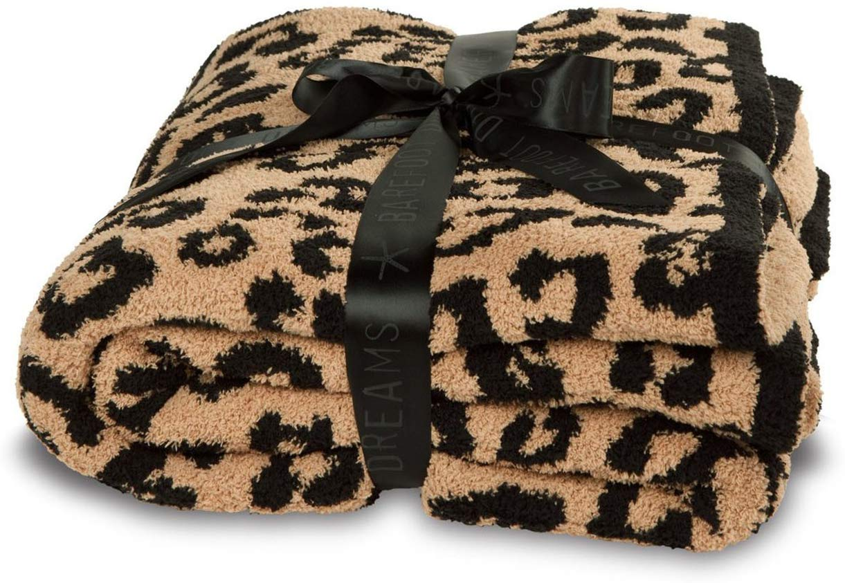Barefoot Dreams Cozy Chic In The Wild Throw - Camel/Black
