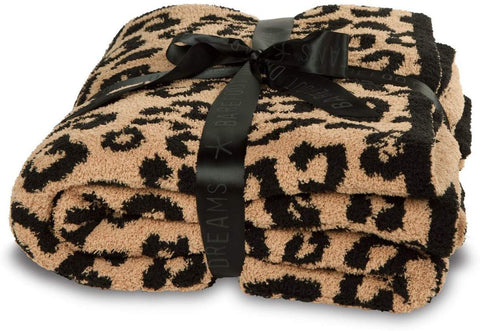 Barefoot Dreams Cozy Chic In The Wild Throw - Camel/Black - This Little Piggy