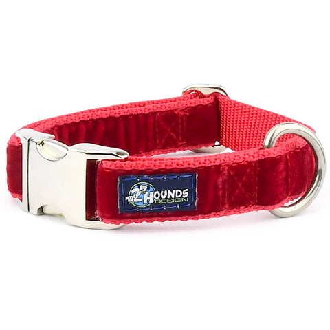 Red Holiday Velvet Essential Dog Collar