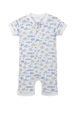 Henley Romper Skinny Fish - This Little Piggy