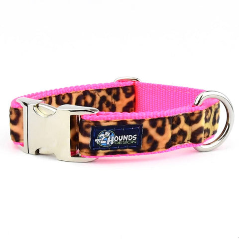 Soft Kitty on Hot Pink Swiss Velvet Essential Dog Collar