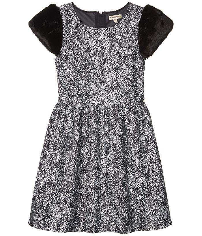 Fleur Dress - Black Geo