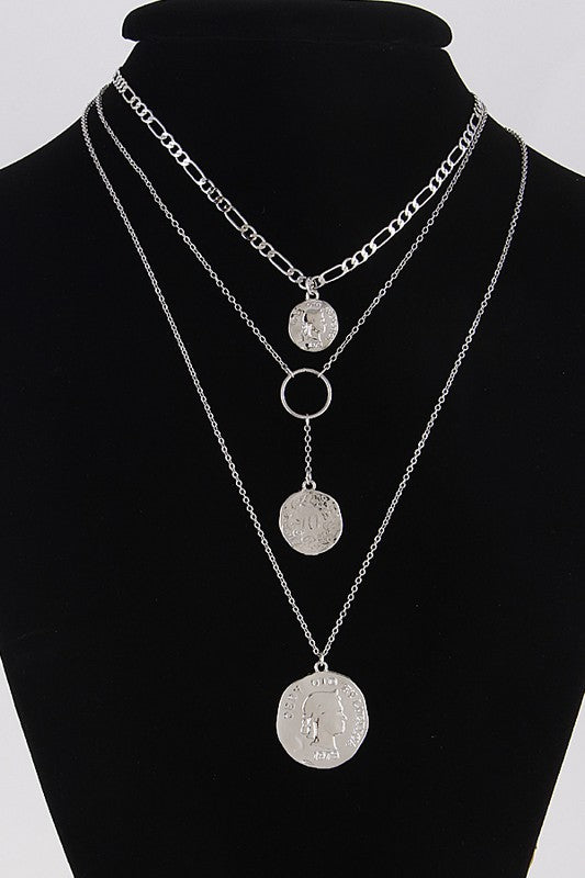 Layered Coin Shell Necklace