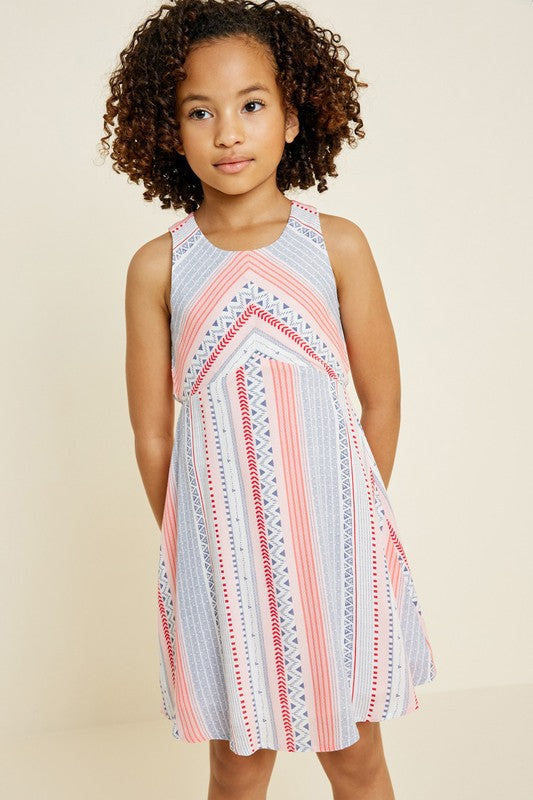 Kids Tribal Striped Dress