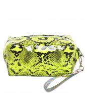 Neon Animal Print Make-Up Bags
