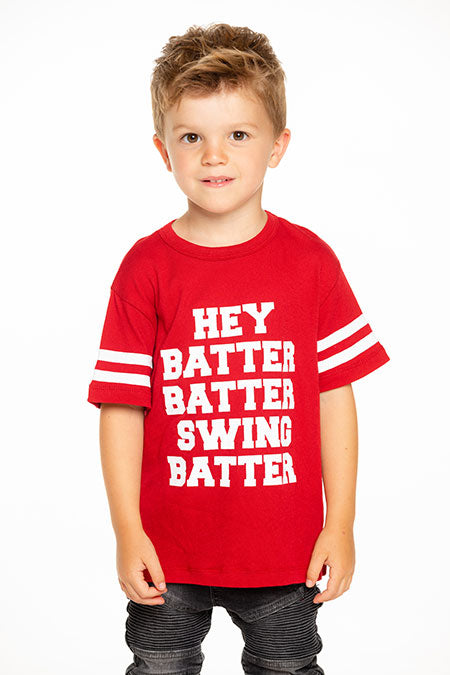 Batter Up Gauzy Cotton Short Sleeve Tee