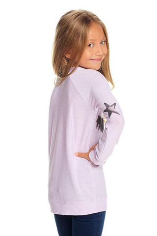 Girls Cozy Knit Raglan Pullover