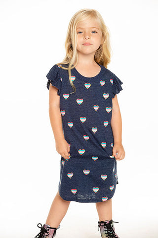 Chaser Kids Beach Hearts Dress - This Little Piggy