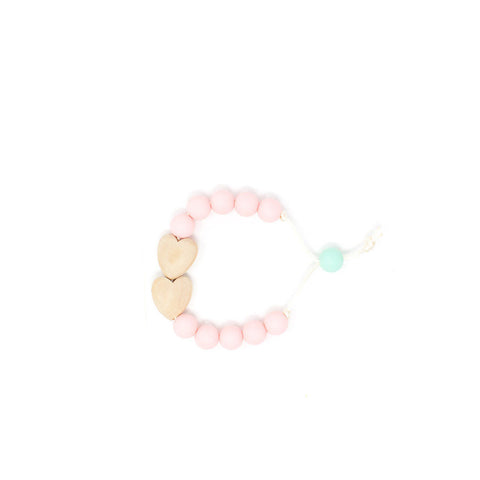 Hearts Hearts Hearts Tension Bracelet - Baby's Breath - This Little Piggy