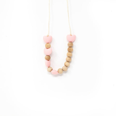 Hearts Hearts Hearts Necklace - Baby Breath - This Little Piggy