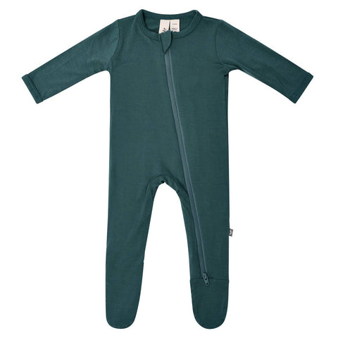 Kyte Baby Zipper Footie in Emerald - This Little Piggy