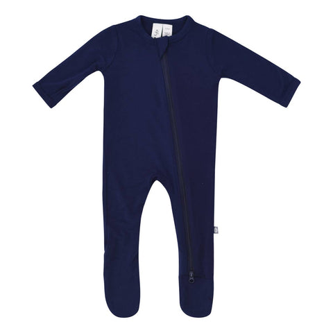 Kyte Baby Zipper Footie in Navy - This Little Piggy