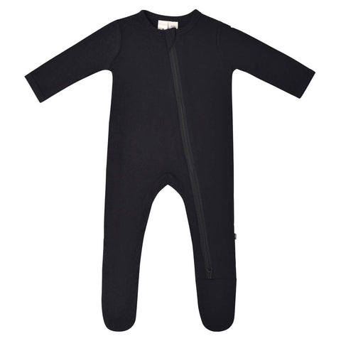 Kyte Baby Zipper Footie in Midnight - This Little Piggy