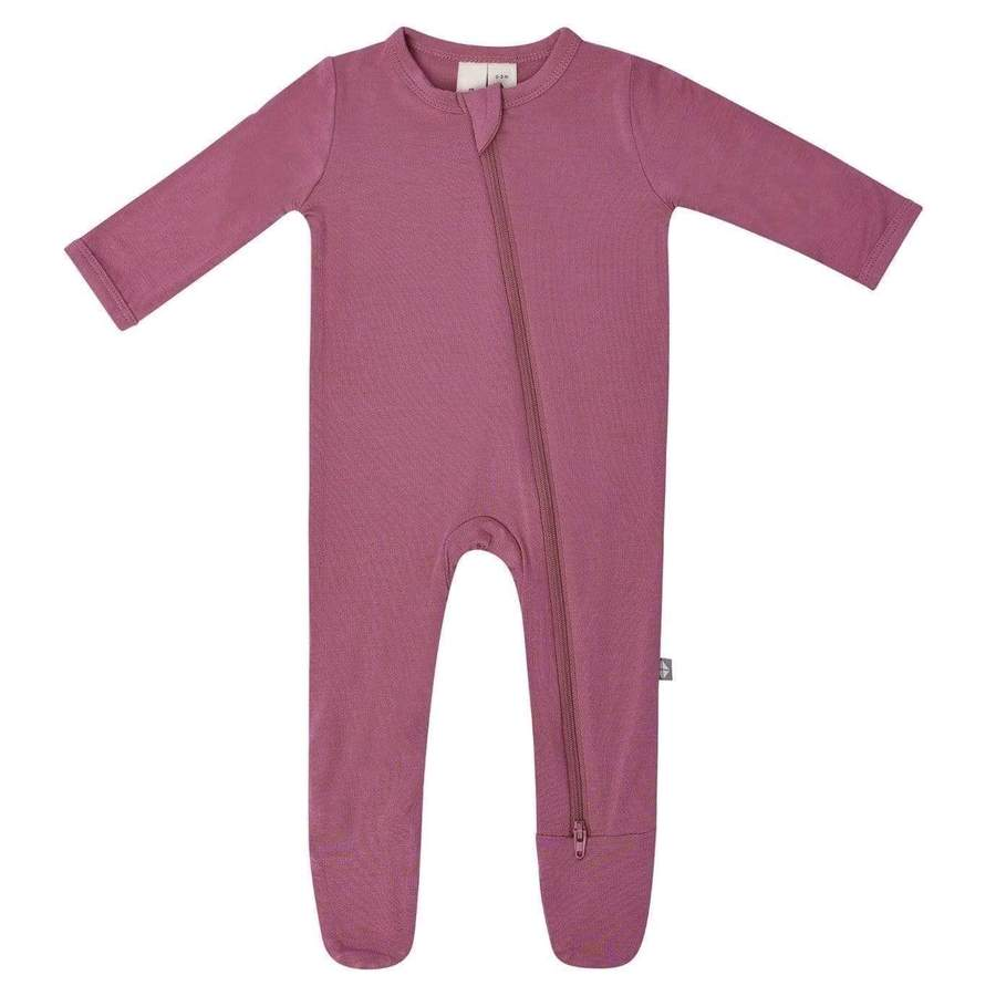 Kyte Baby Zipper Footie in Plum