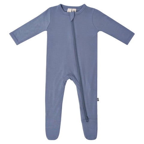 Kyte Baby Zipper Footie in Slate - This Little Piggy