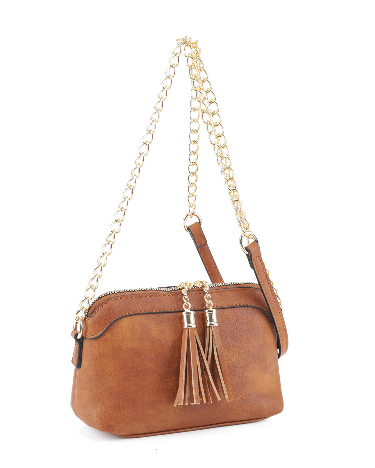 Double Tassel Cross Body Bag