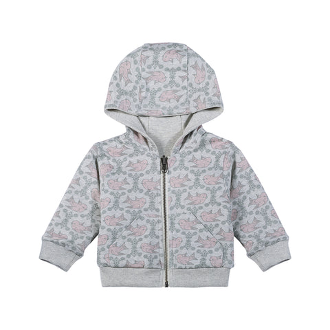 Reversible Hoodie - Vintage Birds - This Little Piggy