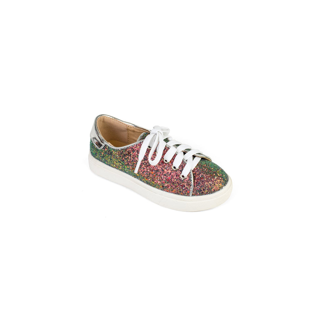 Yosi Samra- Miss Bowery Iridescent Glitter Sneaker - This Little Piggy
