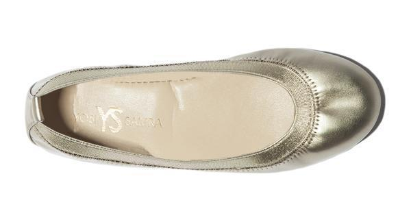 Yosi Samra- Miss Samara Gold Metallic Ballet Flat - This Little Piggy