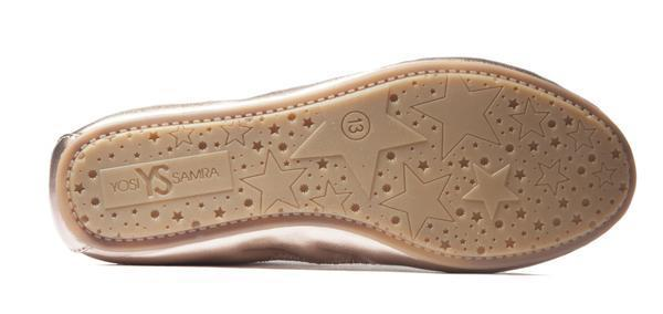 Yosi Samra- Miss Samara Rose Gold Metallic Ballet Flat - This Little Piggy