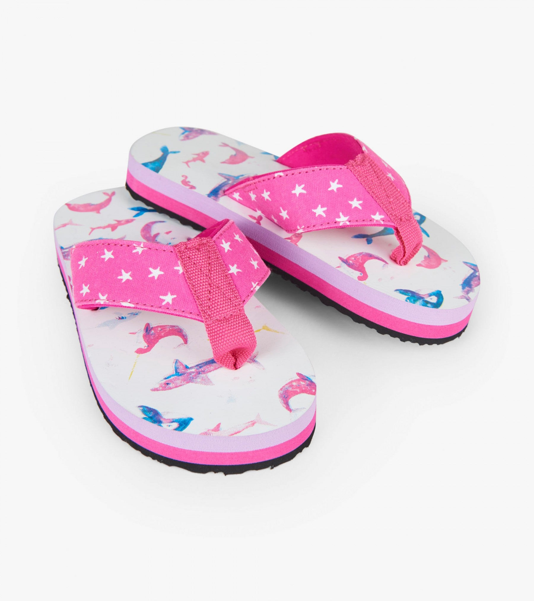 Hatley Flip Flops Watercolor Seafriends