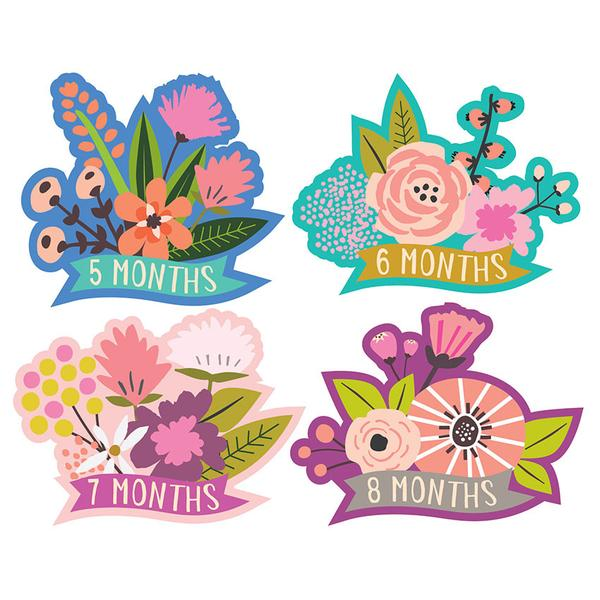LITTLE BLOSSOM -MONTHLY BABY STICKERS - This Little Piggy